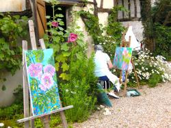 stage de peinture, technique mixte, aquarelle.....vernon-giverny.